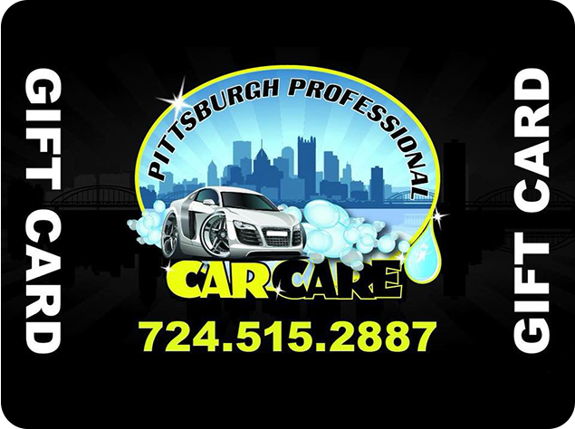 Pittsburgh Pro Car Care Gift Card